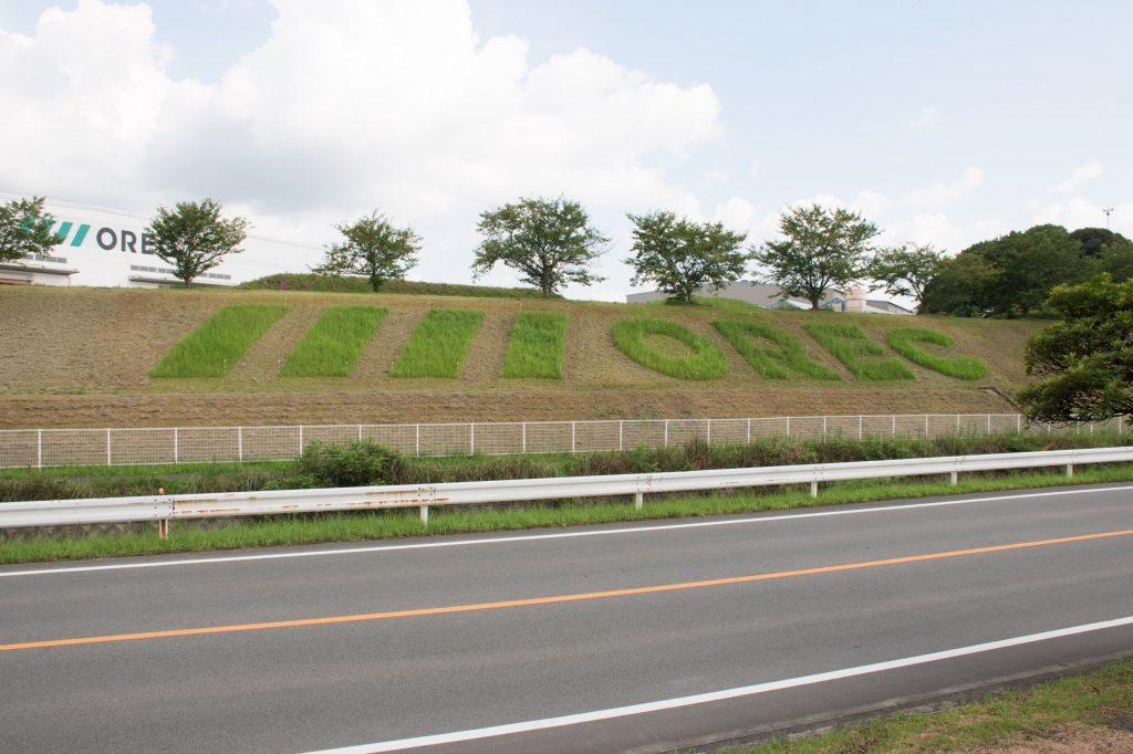 ORECロゴ 草刈りアート